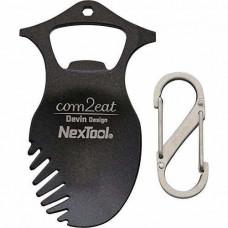 Мультитул NexTool KT5013B Com2eat (74мм, 5 функций), с карабином