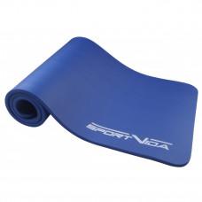 Коврик (мат) для йоги и фитнеса SportVida NBR 1.5 см SV-HK0075 Blue