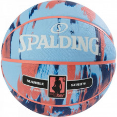Мяч баскетбольный Spalding NBA Marble 4Her Outdoor Sky Blue/Royal/Red Size 6