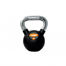 Гиря в резиновой оболочке LiveUp RUBBER KETTEL BELL, 10 кг, LS2044-10