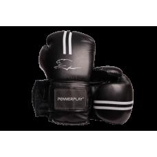 Боксерские перчатки PowerPlay 3016 Черно-Белые 12 унций