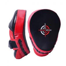 Лапы боксерские PowerPlay 3041 Черно-Красные PU [пара]