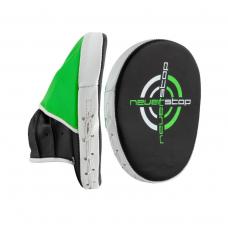 Лапы боксерские PowerPlay 3073 черно-зеленые PU [пара]