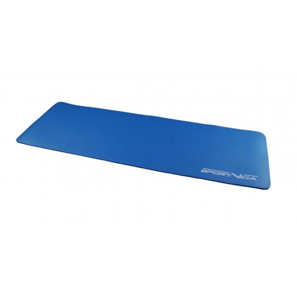 Коврик (мат) для йоги та фітнесу SportVida NBR 1 см SV-HK0069 Blue