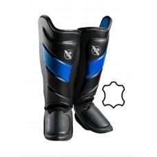 Защита голени и стопы Hayabusa T3 - Черно-синие XL (Original)