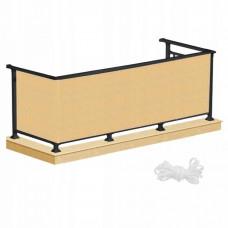 Ширма для балкона (балконный занавес) Springos 1 x 5 м BN1011 Biege