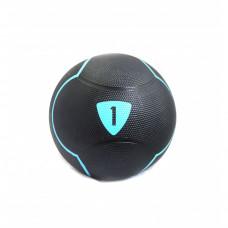 Медбол Livepro SOLID MEDICINE BALL черный 1 кг