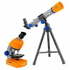 Микроскоп Bresser Junior 40x-640x + Телескоп 40/400