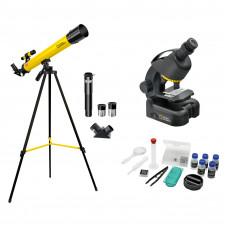 Мікроскоп National Geographic Junior 40x-640x + Телескоп 50/600