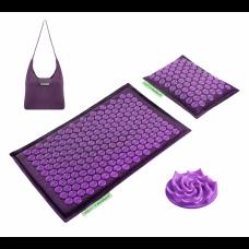 Коврик акупунктурный с валиком 4FIZJO Eco Mat Аппликатор Кузнецова 68 x 42 см 4FJ0181 Purple