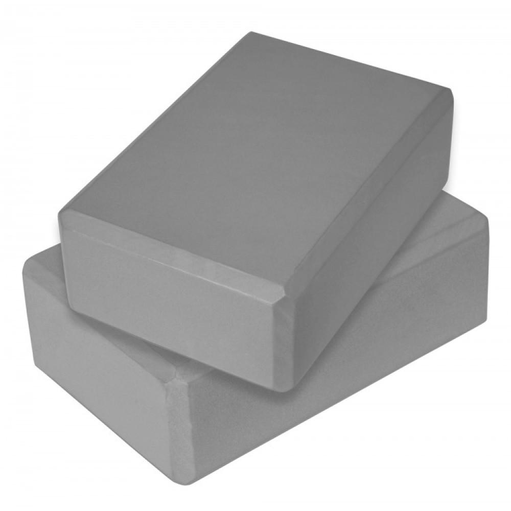 Блок для йоги 2 шт SportVida SV-HK0155-2 Grey