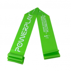 Лента эспандер PowerPlay 4112 Medium зеленая (200*15*0.5мм, 9кг)