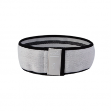 Резинка для фитнеса тканевая PowerPlay 4111 S Light (d_64cm) серый