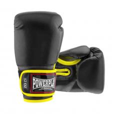 Боксерские перчатки PowerPlay 3074 черные 12 унций