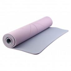 Коврик для йоги YNIZ TPE MAT розово-серый, YJ3237-07p