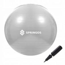 Мяч для фитнеса (фитбол) Springos 75 см Anti-Burst FB0008 Grey