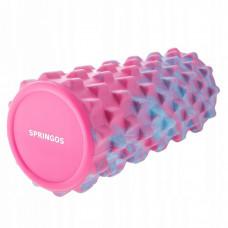 Массажный ролик (валик, роллер) Springos Mix Color 33 x 14 см FR0010
