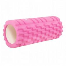 Массажный ролик (валик, роллер) Springos 33 x 14 см FR0017 Pink