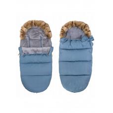 Детский конверт для коляски, санок 4 в 1 Springos SB0001 Blue