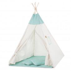 Детская палатка (вигвам) Springos Tipi XXL TIP04 White/Mint