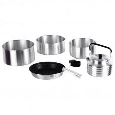 Набор туристической посуды KingCamp CAMPER 4 KP3903 Silver