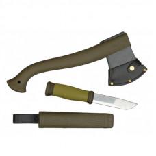 Набор Morakniv Outdoor Kit MG, нож Morakniv 2000 + топор, зеленый