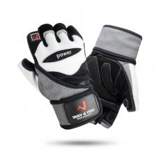 Перчатки для фитнеса и тяжелой атлетики с напульсником Way4you w-1053