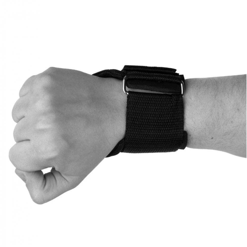 Крюки для тяги на запястья PowerPlay 7053 Черные