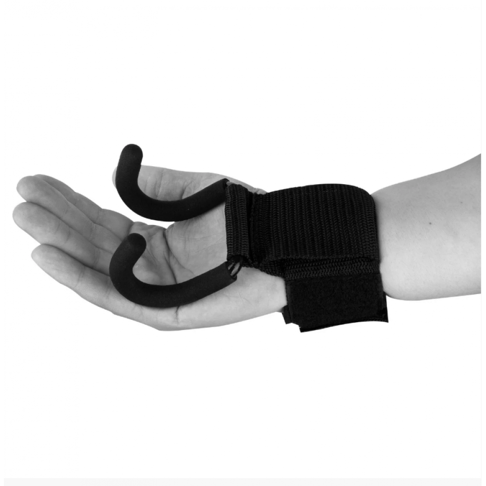 Крюки для тяги на запястья PowerPlay 7060 Черные