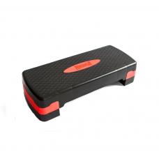 Степ-платформа PowerPlay 4328 (2 уровне 10-15 см) Черно-красная