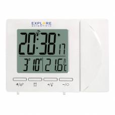 Часы проекционные Explore Scientific Projection RC Alarm White (RDP1001GYELC2)