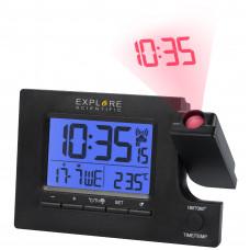 Часы проекционные Explore Scientific Slim Projection RC Dual Alarm Black (RDP1003CM3LC2)