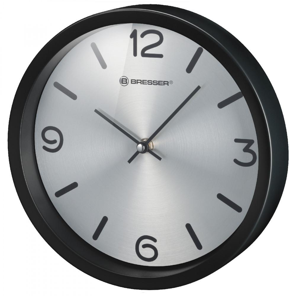 Годинник настінний Bresser MyTime Silver Edition Digit Black (8020316CM3000)