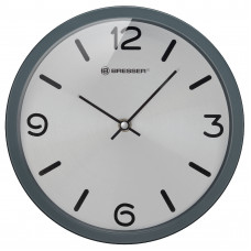 Часы настенные Bresser MyTime Silver Edition Digit Grey (8020316MSN000)