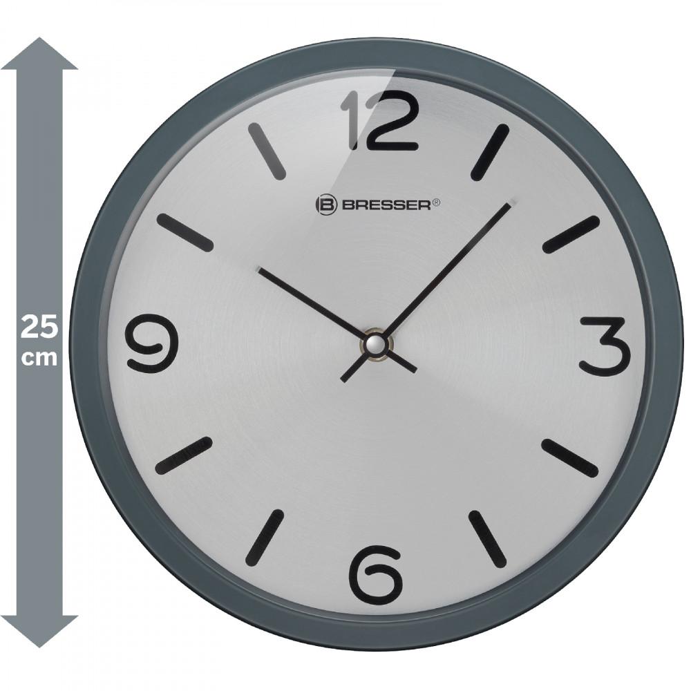 Годинник настінний Bresser MyTime Silver Edition Digit Grey (8020316MSN000)