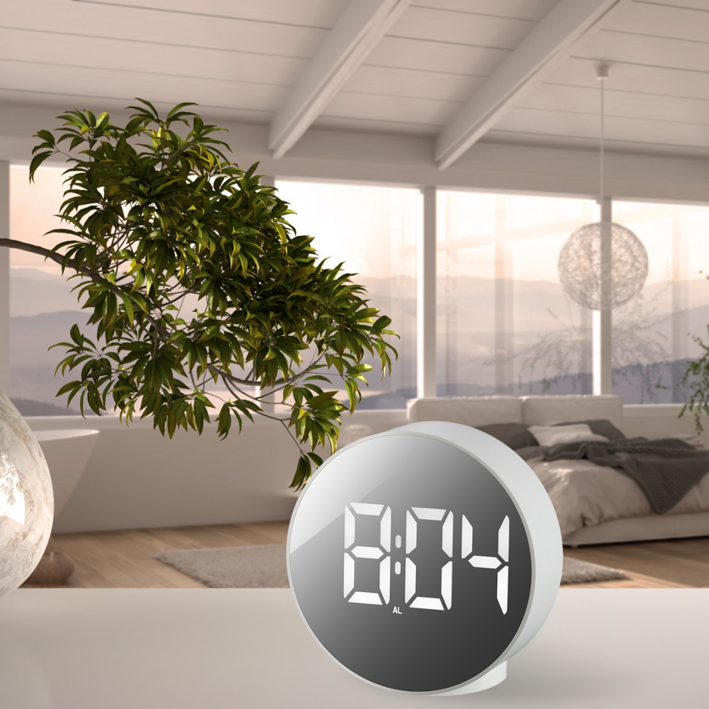 Годинник настільний Bresser MyTime Echo FXR White (8010071GYEWHI)