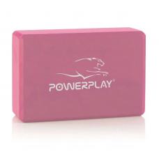 Блок для йоги PowerPlay 4006 Yoga Brick розовый