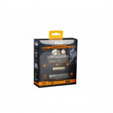 Подарочный набор: налобный фонарь Fenix HM65R + ручной фонарь E01 V2.0