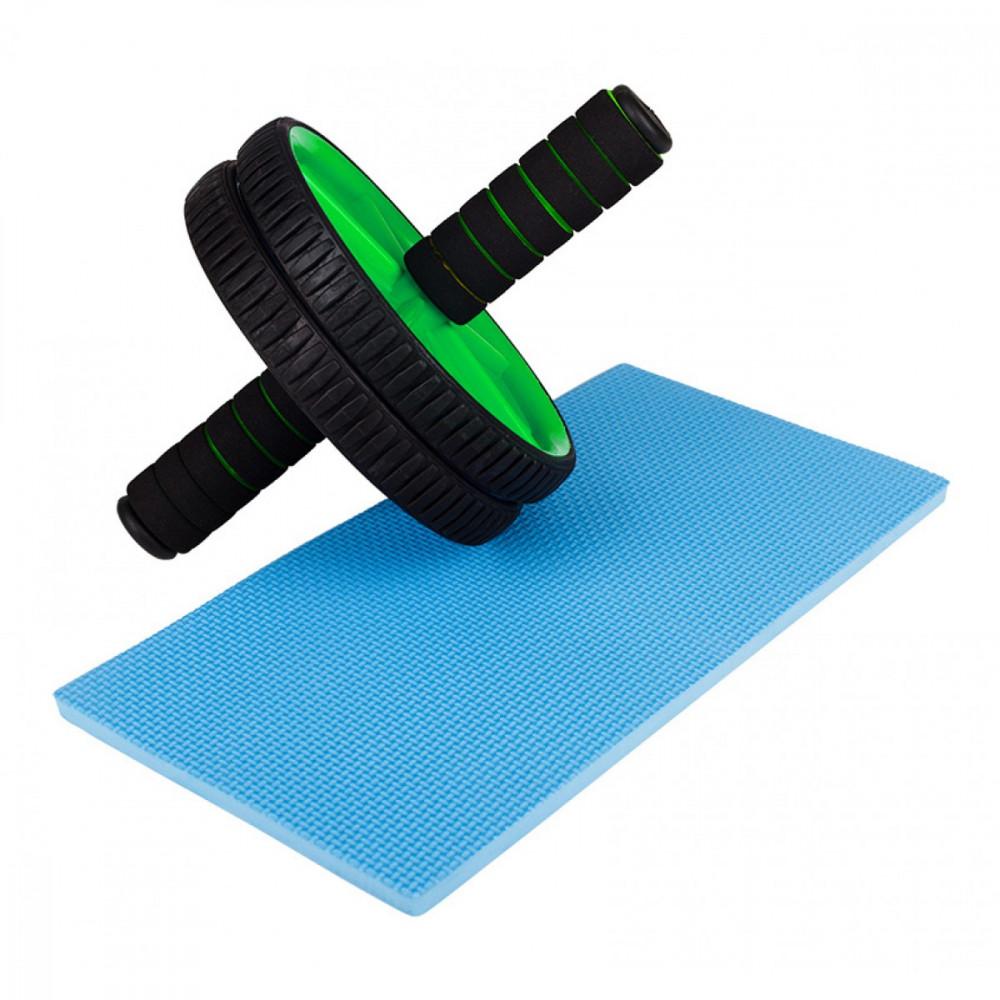 Ролик (гинастическое колесо) для пресса Eversport ES0004 Green