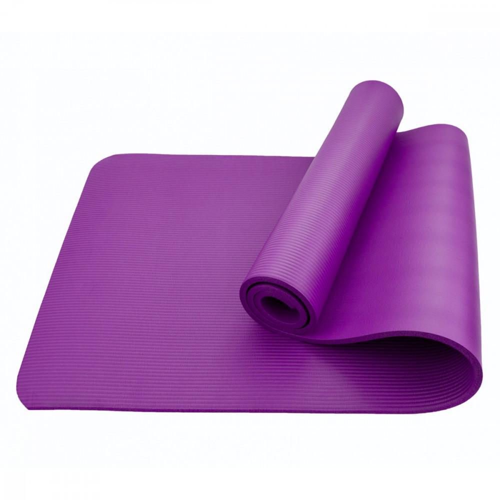 Коврик (мат) для йоги та фітнесу Sportcraft NBR 1 см ES0007 Violet