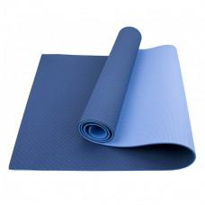 Коврик (мат) для йоги и фитнеса Sportcraft TPE 6 мм ES0009 Blue/Sky Blue