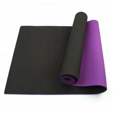 Коврик (мат) для йоги и фитнеса Sportcraft TPE 6 мм ES0020 Black/Violet