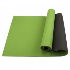 Коврик (мат) для йоги и фитнеса Sportcraft TPE 6 мм ES0021 Green/Black