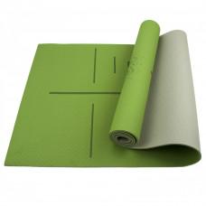 Коврик (мат) для йоги и фитнеса Sportcraft TPE 6 мм ES0024 Green/Grey