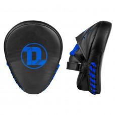 Лапы Dozen Monochrome Training Focus Mitts Black/Blue (пара)