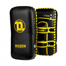 Пады Dozen Monochrome Thai Kick Pads Black/Yellow (пара)