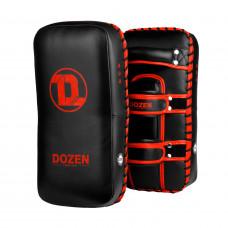 Пады Dozen Monochrome Thai Kick Pads Black/Red (пара)
