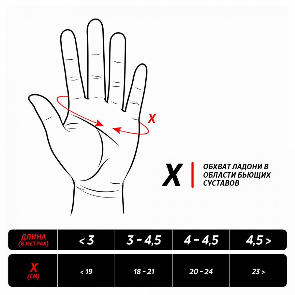 Боксерские бинты полуэластичные Dozen Monochrome Semi-elastic Hand Wraps Red, 2,75м