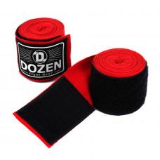 Боксерские бинты полуэластичные Dozen Monochrome Semi-elastic Hand Wraps Red, 3,75 м