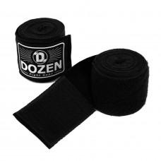 Боксерские бинты полуэластичные Dozen Monochrome Semi-elastic Hand Wraps Black, 3,75 м